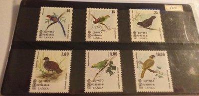 Sri Lanka 1979鳥6全,特價 100元。