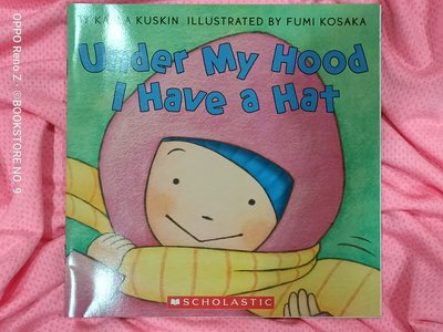 *NO.9 九號書店* Under My Hood I Have a Hat 英文繪本童書 SCHOLASTIC