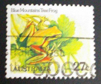 澳洲  蛙類郵票  藍山樹蛙