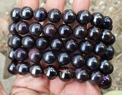 &&~紫雲軒水晶~&&能量功效款【天然金屬光舒俱徠來石手鏈】一標一條   11mm 特惠價