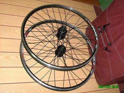 【馬上騎腳踏車】*26吋32孔雙層v.碟兩用快拆鋁框輪組*ASSESS培林式花鼓*
