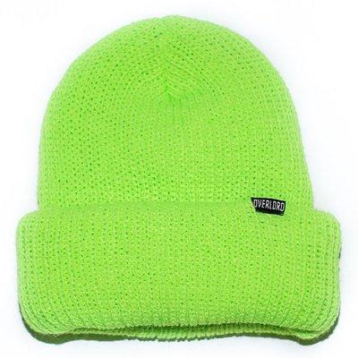 OVERLORD SKATEBAORDS BASIC BEANIE 短 毛帽  『螢光綠』