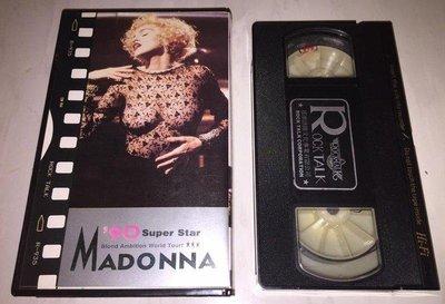 瑪丹娜  Madonna 1990 現場演唱專輯 Blond Ambition Tour 搖滾語錄 台灣版錄影帶 VHS