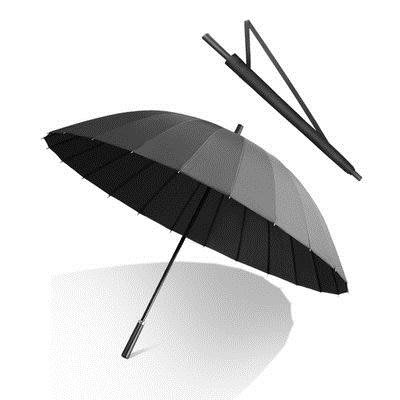 雨傘 男士24骨長柄雨傘大號雙人加固超大抗風暴三人黑色直柄防風商務男T 10色