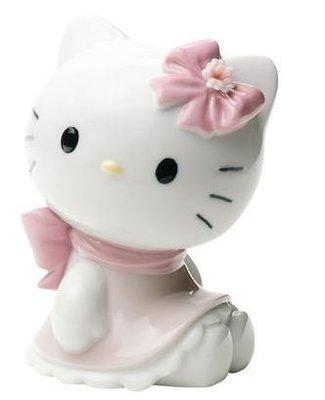 鼎飛臻坊 Hello Kitty 凱蒂貓  Lladro純手工製作 造型 陶瓷 娃娃 擺飾  日本正版 預購