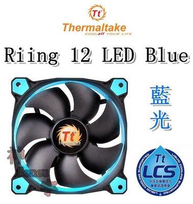 【神宇】曜越 Thermaltake Riing 12 LED Blue 藍光 12公分LED高風壓水冷排風扇 高雄市