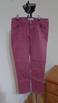 日系專櫃Clear Impression二手 九分褲 粉桃紅 長褲 色褲 wrangler
