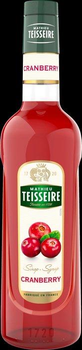Teisseire 糖漿果露-蔓越莓風味 Cranberry 法國頂級天然糖漿 700ml-【良鎂咖啡精品館】