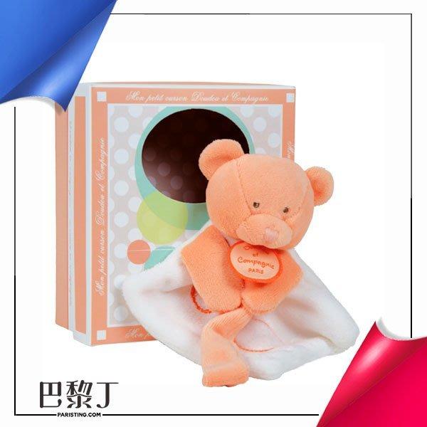 Doudou et Compagnie QQ小橘毛巾熊奶嘴鏈 有盒【巴黎丁】