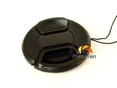 ☆PhotoFan☆ 72mm帶繩中扣式鏡頭蓋Canon 15-85mm 18-200mm Nikon 18-200mm
