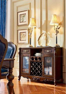 [紅蘋果傢俱]601 美式英倫風系列 餐邊櫃 櫃子 儲物櫃 收納櫃 數千坪展示