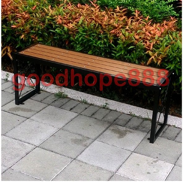 [自然傢俱坊]-樂活-(塑木仿木)鐵製塑木長板凳(DIY)-SH-8S13111(社區.公園.騎樓.賣場.商店.庭院)