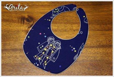 ♥gritas handmade♥純棉手作嬰幼兒圍兜兜/口水巾/三角巾/彌月禮—雙子座