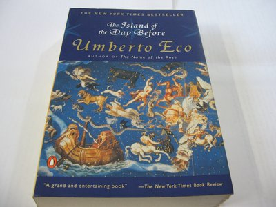The Island of the Day Before昨日之島/Umberto Eco艾可 英譯小說 一般平裝 舊書