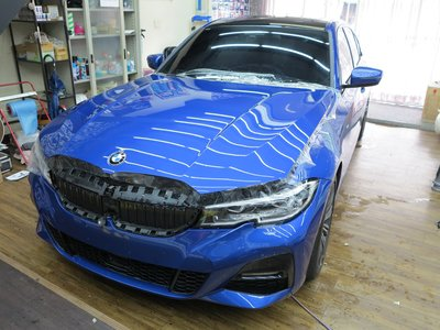 Dr. Color 玩色專業汽車包膜 BMW 330i 細紋自體修復透明犀牛皮_引擎蓋