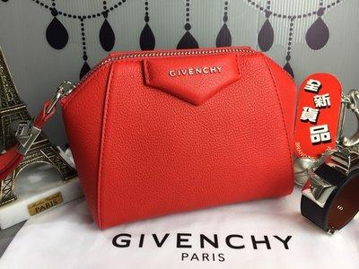 《真愛名牌精品》GIVENCHY BC06826012 紅色 Antigona 牛皮 手拿包 萬用包 *全新*特價 台北市