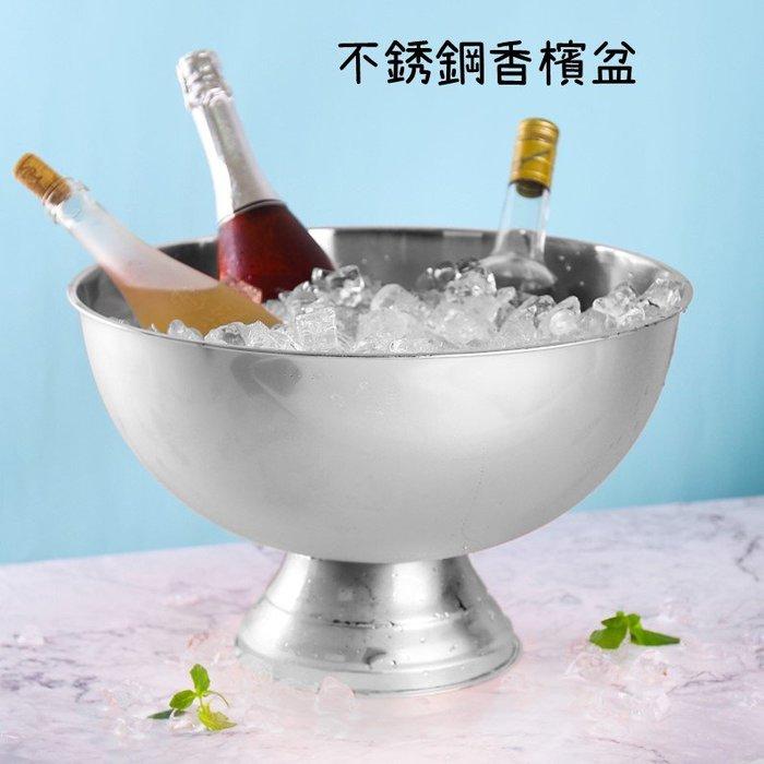 不銹鋼香檳盆冰桶酒吧冰鎮冰酒啤酒紅酒冰塊冰桶(玫瑰金)
