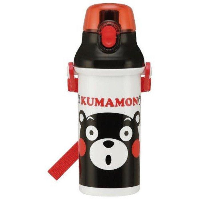 ^燕子部屋 ^ 日本製 【 熊本熊】KUMAMON 塑膠水壺(彈蓋直飲)