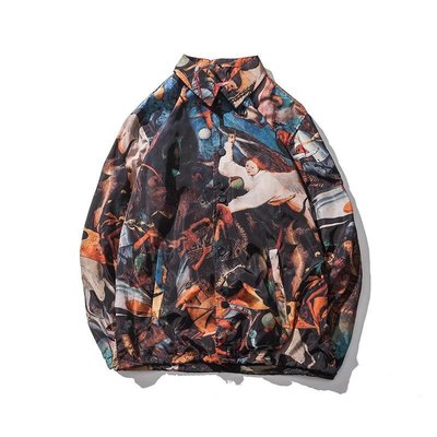 【Result】18SS 歐風古典宮廷 教練外套 Jacket Hiphop 限量