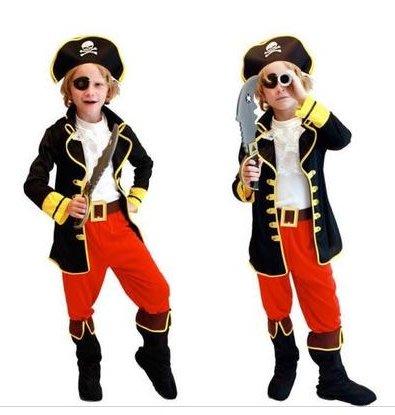 禧禧雜貨店-萬聖節耶誕節兒童表演服裝男童傑克船長加勒比海盜衣服化妝舞會#超值特價#便宜出清