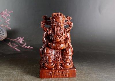 小葉紫檀 - 財神到 -  雕工精緻. 材質細膩 E104