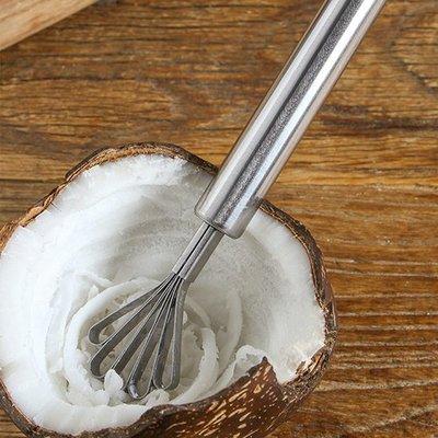 430不銹鋼椰子刨 椰肉刨刀 椰子刮肉器 挖椰肉 刀魚鱗刨 廚房 料理 東南亞  ♣生活職人♣【K075】