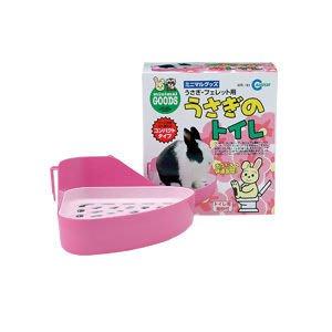 ☆米可多寵物精品☆日本Marukan兔兔用MR-161粉紅雙層兔便盆/天竺鼠/貂適用