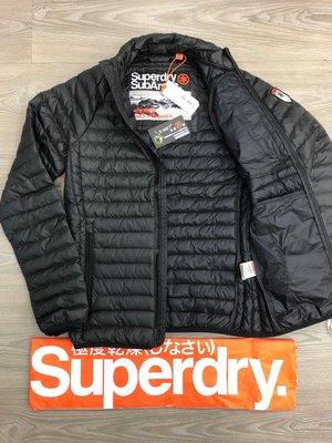 跩狗嚴選 90%絨 低調 極之特價 極度乾燥 內搭 Superdry 羽絨 夾克 風衣 外套 輕量保暖 黑 多隱藏口袋