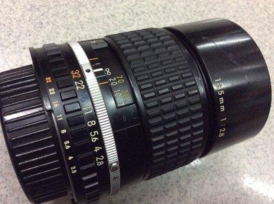 [保固一年] 明豐相機 ] Nikon Ai 135mm F2.8 實用級 手動對焦 人像鏡頭 底片 數位 轉接都可