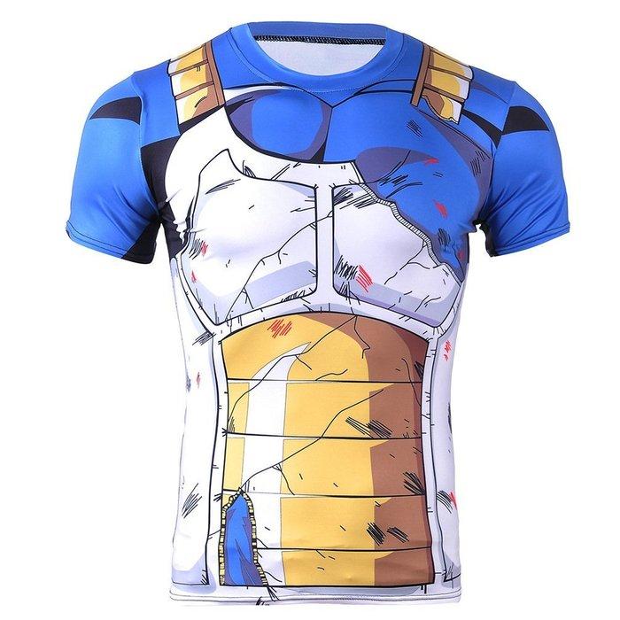 男士t恤夏季薄款透氣T恤 速賣通 個性龍珠cosplay動漫圓領短袖男士超便宜 夏季t恤