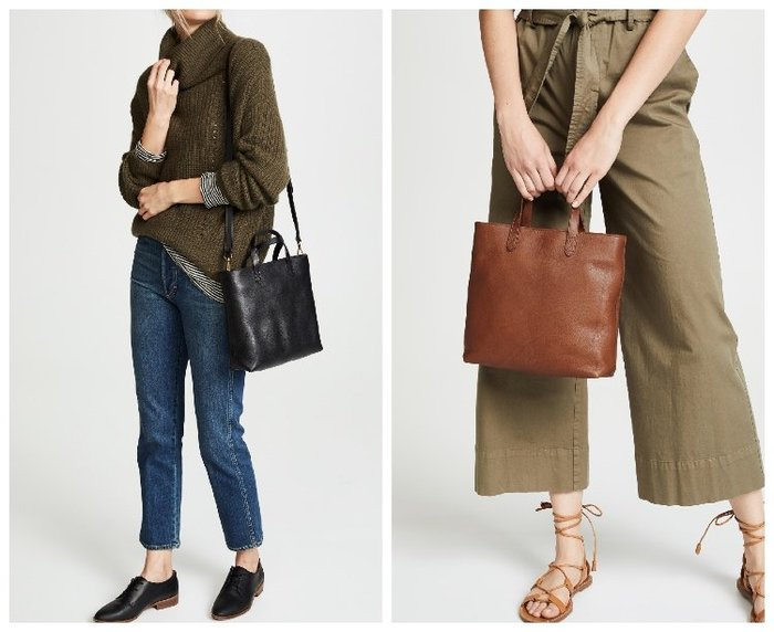 【BJ.GO】美國 madewell The Zip-Top Transport Crossbody 真皮斜背包手提袋