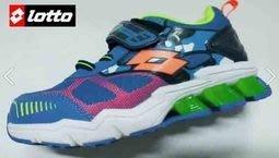 北台灣大聯盟 義大利第一品牌-LOTTO 男童5大機能G MAX-GUMMY彈力跑鞋 5106 藍 超低直購價498元