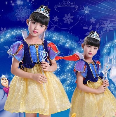 Child Snow White Dress Outfit  Halloween Costumes party