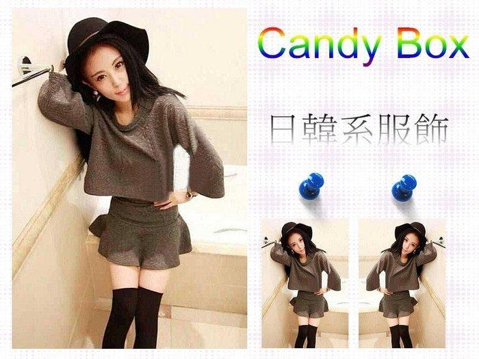 ☆Candy Box☆ 2014秋装新款韓版套装 卡其 Y1022104