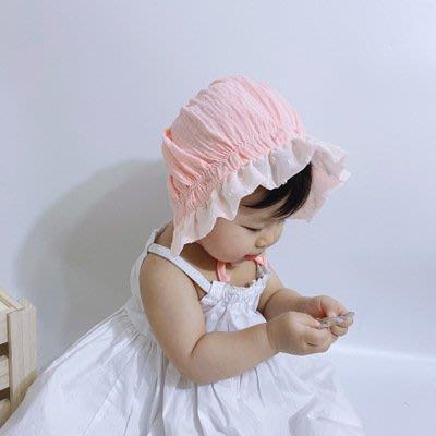 ??現貨✨嬰幼兒 女寶寶遮陽帽 防風帽 女童 蕾絲花邊帽 保暖帽 小童盆帽 嬰兒帽 幼兒 公主帽 宮廷帽 護耳朵帽子