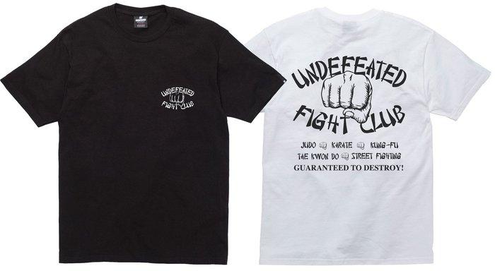 【超搶手】全新正品 2015 秋冬最新 UNDEFEATED FIGHT CLUB TEE 字體 戰鬥 S M L XL