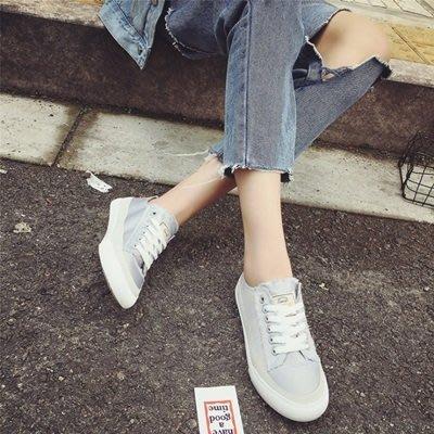 帆布鞋 繫帶休閒鞋-清新學院風百搭時尚女鞋子4色73no33[獨家進口][巴黎精品]