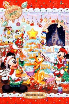 DISNEY東京迪士尼2012聖誕節 明信片( 製)