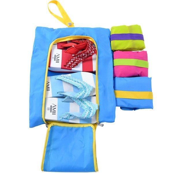 【御品生活】哇沙米輕旅行-韓版旅行用拖鞋海灘鞋布鞋收納包/鞋袋/收納袋 (共三色)可超取