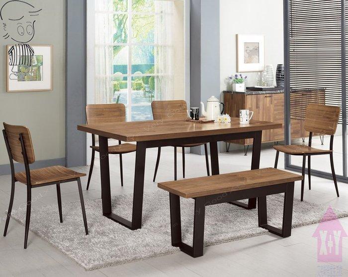 【X+Y時尚精品傢俱】現代餐桌椅系列-安東尼 4.3尺餐桌不含餐椅.噴黑砂五金腳架.摩登家具