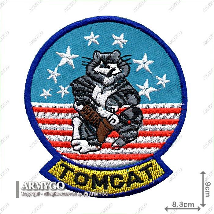 【ARMYGO】美國 F-14 TOMCAT 機種部隊章 (8.3公分藍邊款)