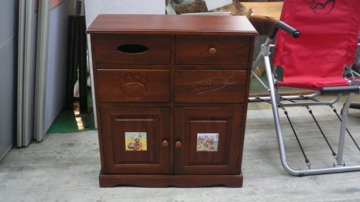 樂居二手家具館 全新中古家具賣場 LG401*全新實木垃圾桶櫃*收納櫃 碗盤儲物櫃 高低櫃 置物櫃 隔間屏風櫃 書架