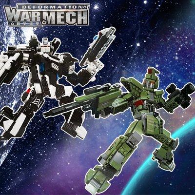 互動款 變形金剛【積木坦克車、積木警車】變形戰士 積變戰士 機甲戰士 拼裝 造型積木 玩具 益智 兒童 汽車模型 機器人