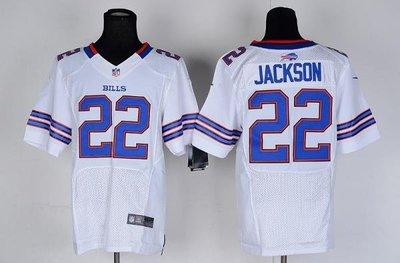NFL橄欖球球衣 Buffalo Bills 布法羅比爾 22# JACKSON 精英版 ycwk608
