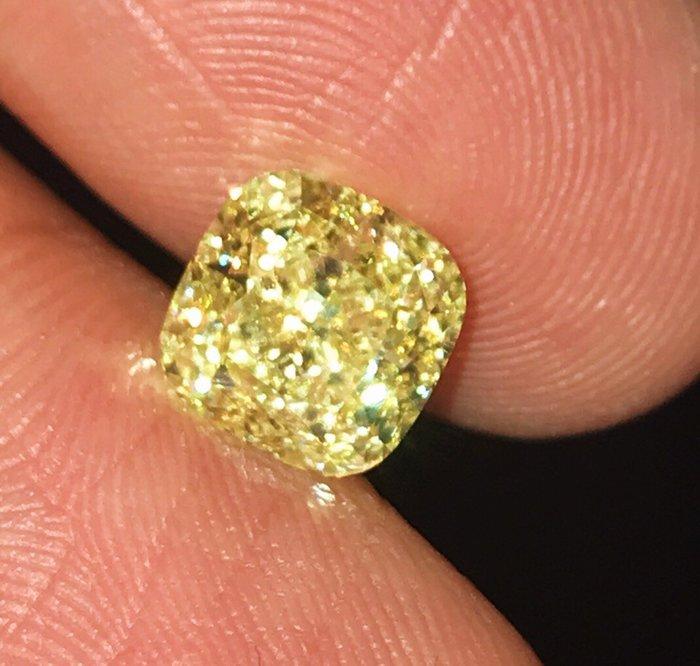 【台北周先生】天然Fancy正黃色鑽石 3.05克拉 超大顆 VS2淨度 Even分布 收藏等級 送GIA證書
