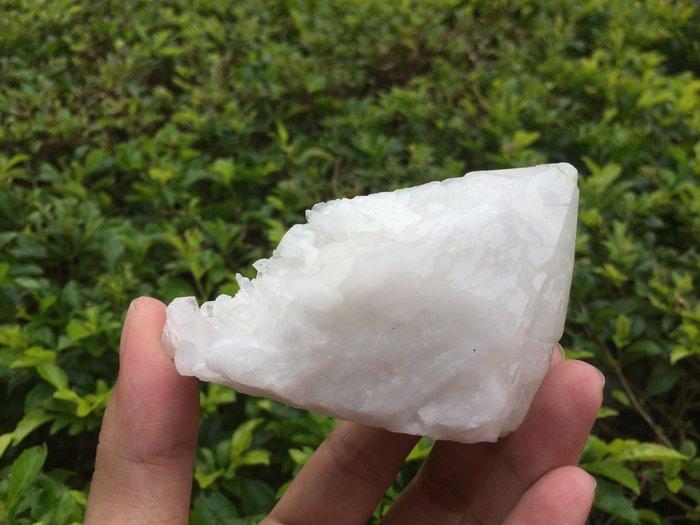 【小川堂】淨化 巴西 原礦(35) 正能量 純天然 清料 白水晶簇 鱷魚 骨幹 水晶 164.1g 附木座