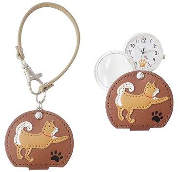 日本正版 Fieldwork LW054-2 柴犬 掛錶 懷錶 日本代購