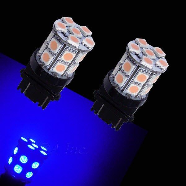 【PA LED】美規 3157 雙芯 20晶 60晶體 SMD LED 藍光 360度發光 後燈 煞車燈 方向燈