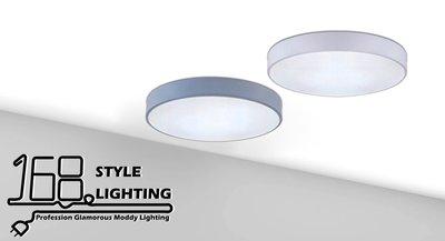 【168 Lighting】圓素色《LED吸頂燈》(兩色)白色GK 81408-2