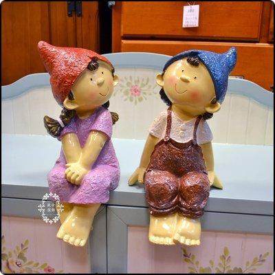 波麗尖帽小矮人直角桌邊娃娃擺飾 一對男孩女孩小精靈坐姿情侶擺飾荷蘭娃娃布腿娃娃櫥窗送禮新婚送禮婚禮居家佈置【歐舍家飾】